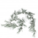Pine garland, iced, slightly glazed, L170cm